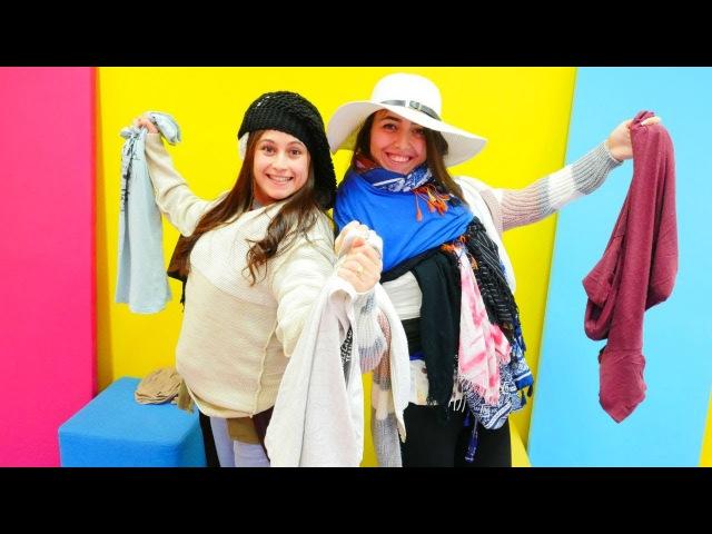 Yeni Challenge video izle! Ayşe VS Sevcan – Kim daha fazla kıyafet giyer. Eğlenceli kızoyunları