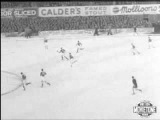 Football in the snow 1950s Aberdeen vrs Rangers