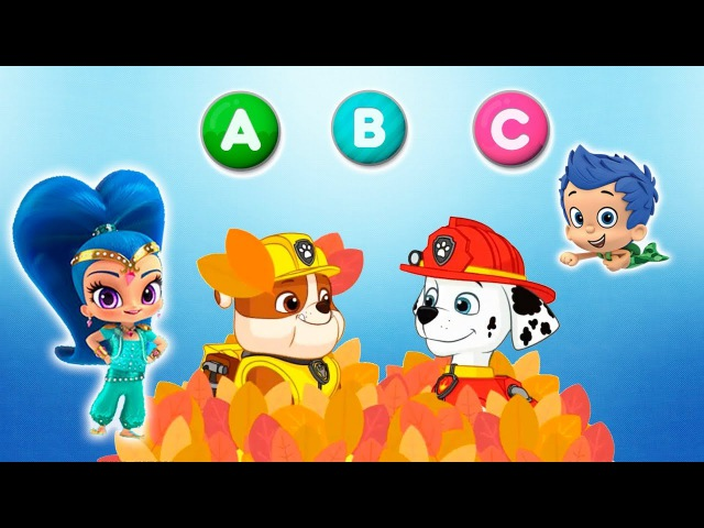 ABC: Paw Patrol and Friends teach letters Alphabet. Learning video