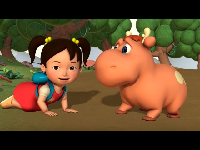 Английский язык для малышей Мяу Мяу Мама для лосенка Helping Baby Moose учим английский