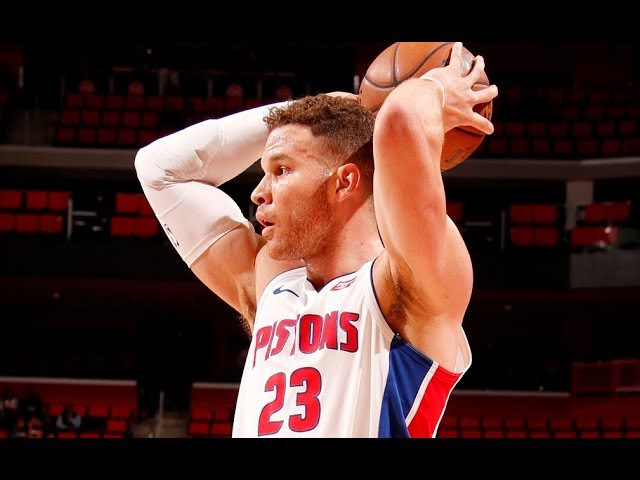 Blake Griffin Hits Shot That Would Win A Game Of H-O-R-S-E NBANews NBA Pistons BlakeGriffin