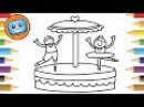 How to Draw a Music Box Colouring Book Simple Drawing Game animation