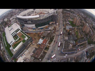 Дрон над строящимся стадионом «Тоттенхэм Хотспур»