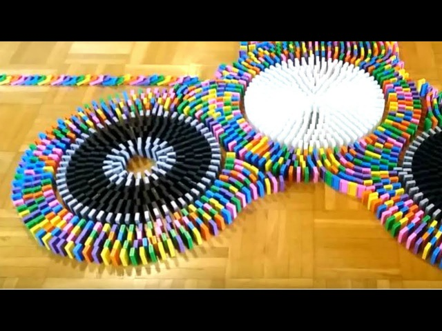 Watching DOMINOES FALLING is ODDLY SATISFYING [Video]