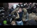 Filmreifes Polittheater um Saakaschwili Suizid Drohung Festnahme und Befreiung aus Polizeiwagen