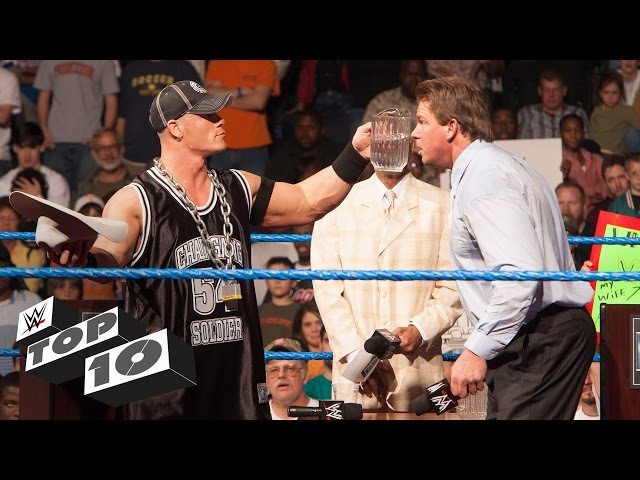 Superstars Getting Soaked - WWE Top 10
