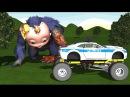 GORILLA BABY VS POLICE CAR Finger Family Nursery Rhymes for Children 3D Animation