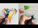 Рисование акварелью и с помощью маркер Хамелеон