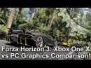 4K Forza Horizon 3 Xbox One X vs PC Graphics Comparison Frame Rate Test