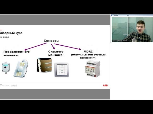 Вебинар АББ Сенсоры ABB i bus KNX SPM18 4