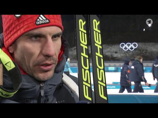 OG-2018. Arnd Peiffer after mixed relay