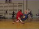 Уроки самбо Подножка передняя с колена