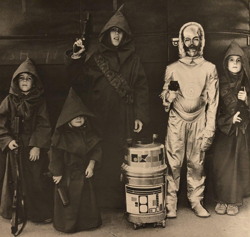 """Хэллоуин в стиле """"Звездных войн"""", Канзас, США, 1978 год."""