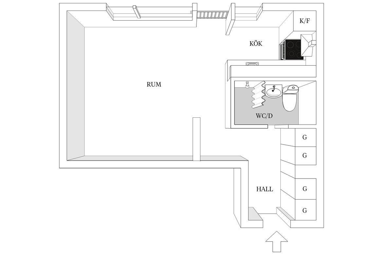 Скандинавская квартира-студия 30 м.