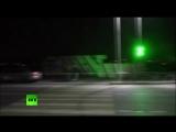 Кадры с места нападения бандитов на пост ДПС в Ингушетии