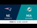 NFL 2017 / W14 / New England Patriots - Miami Dolphins / CG / EN