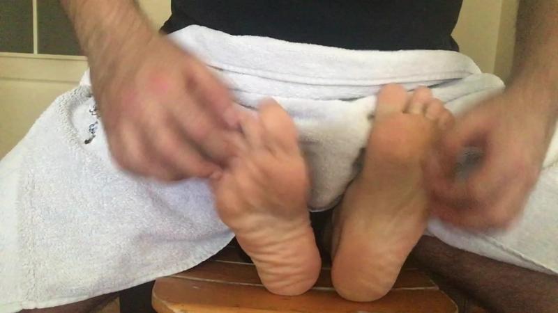 Ticklish wrinkled soles