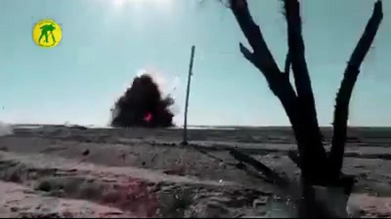 Иракцы уничтожают шахидомобиль чёрных