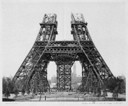 Эйфелева башня - история создания в фотографиях.