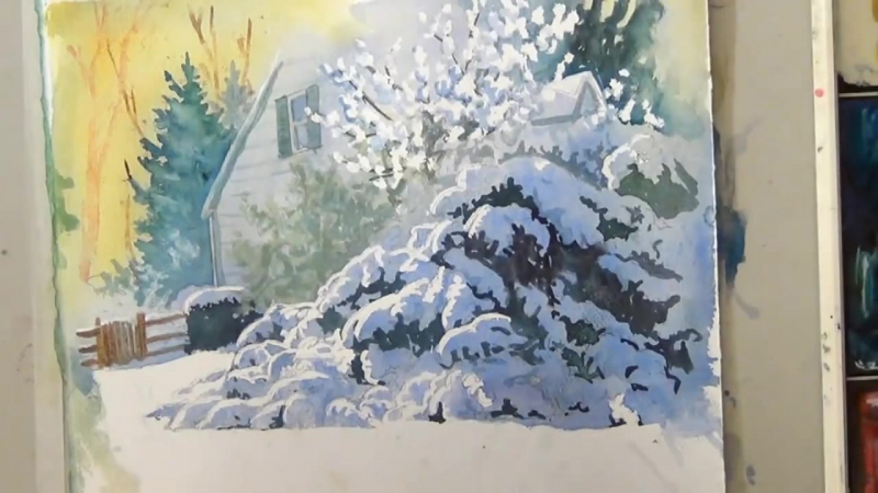 6 Painting Snow in Watercolor Deb Watson