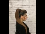 Видео урок, как сделать высокий хвост