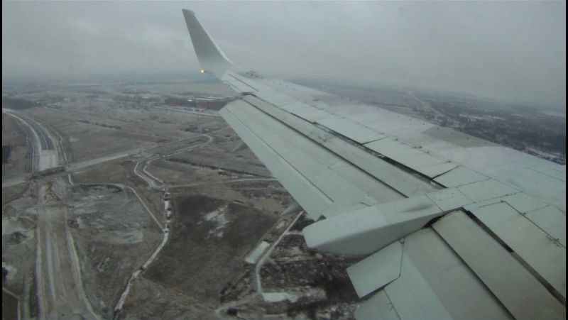 Boeing 737-500 UTair ULLI Landing
