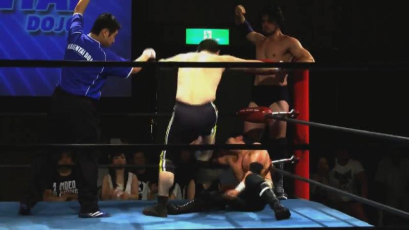 Kashiwa, Dicky Mayer, Shiori Asahi vs. Tank Nagai, Yuki Sato, Yasu Urano (K-DOJO - Club-K Super In TKP Garden City Chiba)