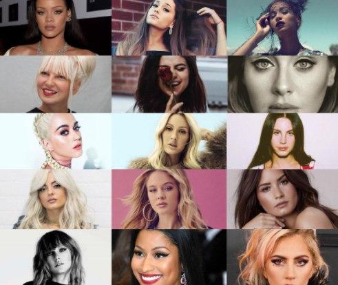 Топ-15 самых прослушиваемых певиц на сервисе «Spotify»: