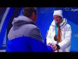 Лыжница из Республики Коми Юлия Белорукова получает свою заслуженную бронзовую медаль!
