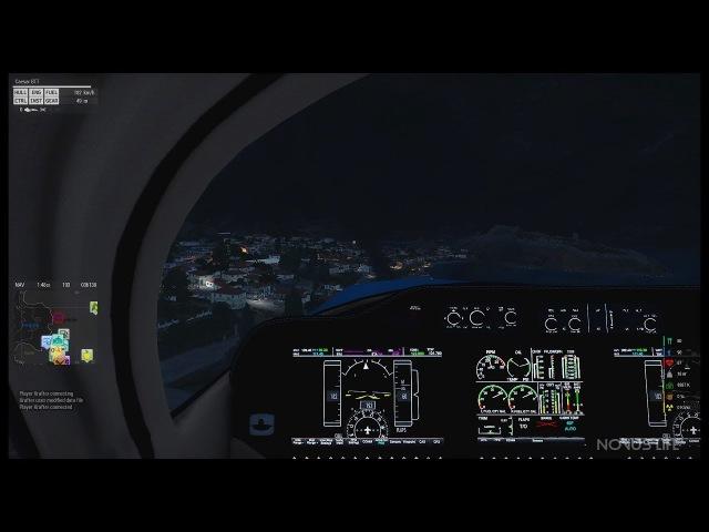 Пилот Arma 3 Altis Life: Ночной полет Из кабины пилота! (Caesar BTT)