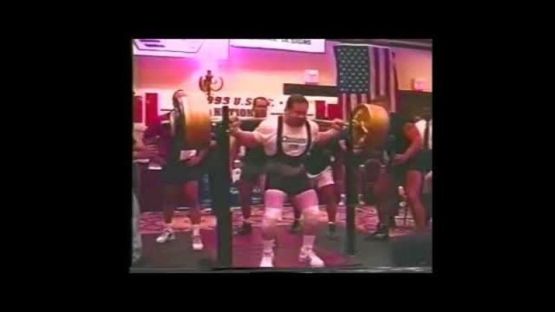 Эд Коэн Присед 462,5кг на национальном турнире WSPF 24 25 Июля 1999г в Далласе, штат Техас