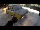 Ford Sierra and Vaz 2106 Street Drift in Russia Saint-Petersburg