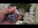 Новогодние елочки и снежки в технике папье маше. Ватный мальчик. Зимняя сказка на камине.