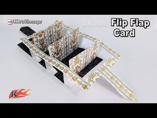 Flip Flap Card Tutorial | How to Make Card for Scrapbook pages | JK Arts 1254