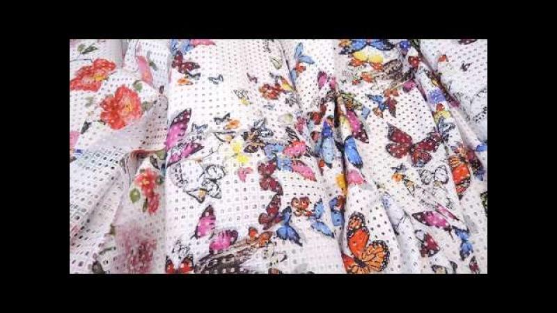 Итальянская вышивка на хлопке для летнего платья яркие дизайны
