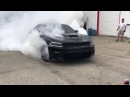 Hellcat Charger Pops Tires burning them to the WIRES