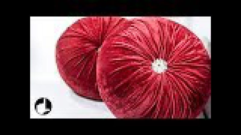 DIY Decoration Ideas for Home: Round Pleated Pillows by HandiWorks 123