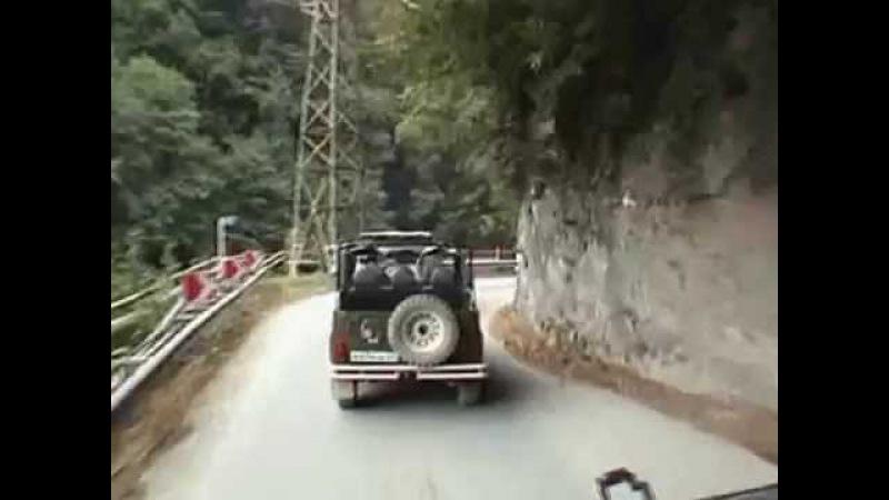 Скальный участок дороги на Красную Поляну