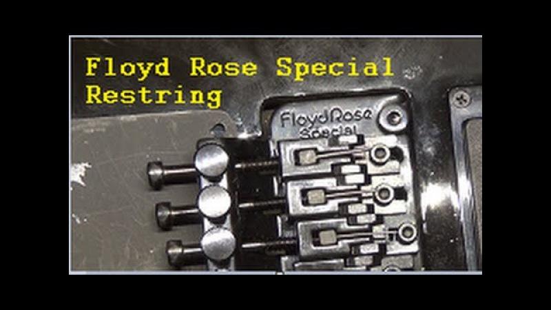 Restringing a Floyd Rose Special Tremolo!