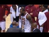 LeBron James Very Angry During Timeout Cavaliers vs Raptors Jan 11, 2018 2017-18 NBA Season