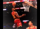 JR Smith and Lebron James alley oop