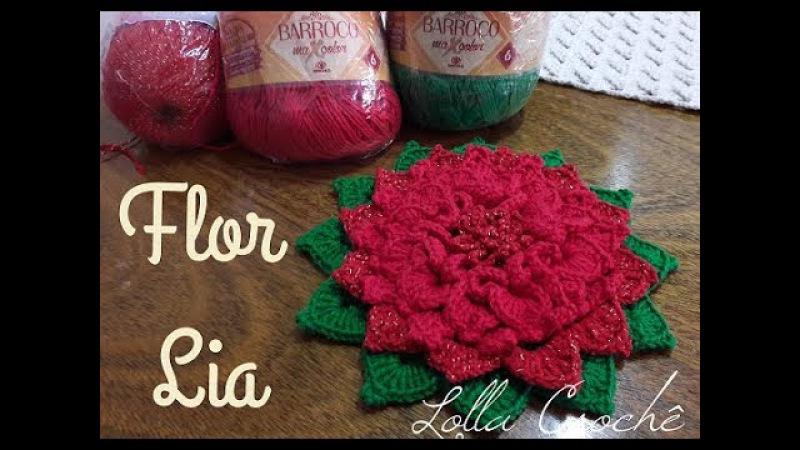 Flor de Crochê Lia - Passo a passo