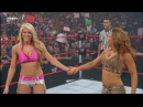 WWE Raw Mickie James and Kelly Kelly vs Jillian Hall and Katie Lea Burchil