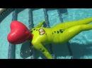 Inflatable heart hood latex pool floatation