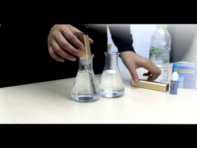 IPM H3O Magic Stick - Antioxidant Test of Hydrogen Ion Water ( English subtitles )