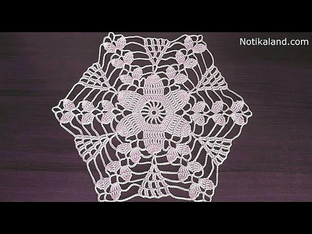 Crochet motif patterns Crochet motif tablecloth Part 1