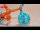 Как собрать велосипед из киндера ,Велосипед BMX из серии Go move Киндер Сюрприз