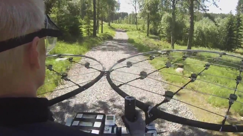 ChAIR -Manned multirotor Part 22 -Second flight pilot view only Axel Borg - YouTube