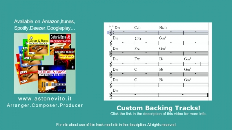 Ballad David Gilmour Style Backing Track 2