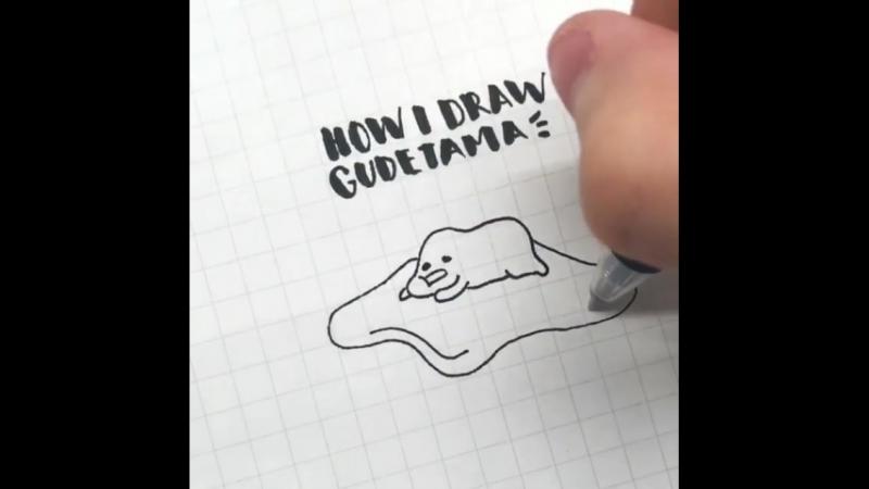 How I draw Gudetama - 1